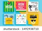 set of sale banner template... | Shutterstock .eps vector #1492938710