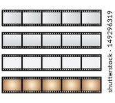 pack film strip isolated | Shutterstock . vector #149296319