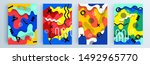 modern abstract covers set ... | Shutterstock .eps vector #1492965770