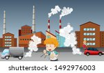 global warming poster with kid... | Shutterstock .eps vector #1492976003