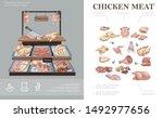 butcher shop colorful concept... | Shutterstock .eps vector #1492977656