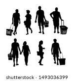 family doing everyday grocery... | Shutterstock .eps vector #1493036399