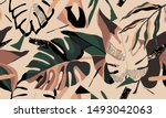 modern exotic jungle plants... | Shutterstock .eps vector #1493042063