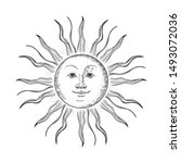 vector image of the sun in the... | Shutterstock .eps vector #1493072036