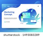 landing page marketing concept...
