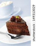 Cake With Chocolate On Grey...