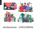 set of medical insurance...   Shutterstock .eps vector #1493158946