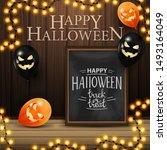 happy halloween  square... | Shutterstock .eps vector #1493164049