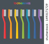 vector medical icon color tooth ... | Shutterstock . vector #1493171729