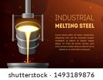 industrial melting steel ad... | Shutterstock .eps vector #1493189876