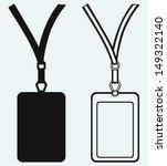 blank badge with neckband...   Shutterstock .eps vector #149322140
