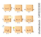 cute smiling funny happy strong ...   Shutterstock .eps vector #1493222330