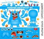 monster emoji cartoon character ... | Shutterstock .eps vector #1493226809