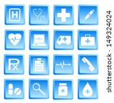 medical and health icon set... | Shutterstock .eps vector #149324024