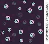 funny halloween  art  vector... | Shutterstock .eps vector #1493262203