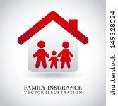 family insurance over gray... | Shutterstock .eps vector #149328524