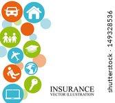 insurance design over white... | Shutterstock .eps vector #149328536