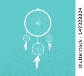 dreamcatcher on turquoise...   Shutterstock .eps vector #149328824
