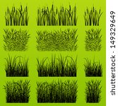 grass  reed and wild plants...   Shutterstock .eps vector #149329649