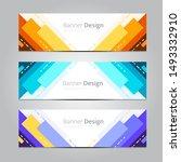 abstract banner design template ... | Shutterstock .eps vector #1493332910
