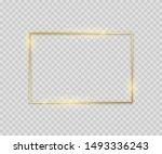 golden square shape. shiny... | Shutterstock . vector #1493336243