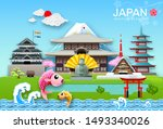 japan landmark travel object...   Shutterstock .eps vector #1493340026