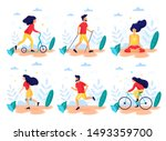healthy lifestyle. different... | Shutterstock .eps vector #1493359700