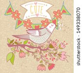 abstract romantic card in cute... | Shutterstock .eps vector #149338070