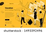 flat design isomentric template ...   Shutterstock .eps vector #1493392496