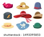Cartoon Hats. Colourful Hat Se...