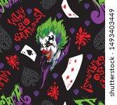 Joker And Card Seamless Pattern ...
