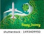 airplane flying over vector...   Shutterstock .eps vector #1493409950