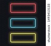 neon light tube. set of... | Shutterstock .eps vector #1493413133