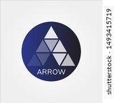 arrow up forward logo  template ...