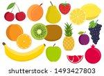 tropical fruit. vegan kitchen... | Shutterstock .eps vector #1493427803