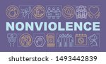 nonviolence word concepts... | Shutterstock .eps vector #1493442839