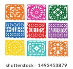 Set Of Handmade Colorful Paper...