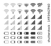 phone signal and battery icons. ... | Shutterstock .eps vector #1493462960