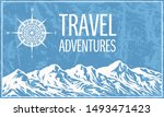 mountaineering and travelling... | Shutterstock . vector #1493471423