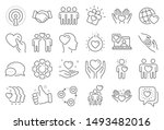 friendship and love line icons. ... | Shutterstock .eps vector #1493482016
