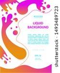 creative geometric vector... | Shutterstock .eps vector #1493489723