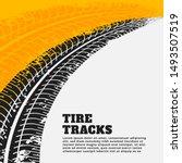 grunge tire track print marks... | Shutterstock .eps vector #1493507519