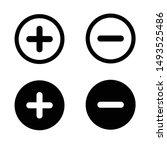 plus minus icon vector design... | Shutterstock .eps vector #1493525486