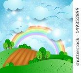 fantasy landscape with... | Shutterstock .eps vector #149352899