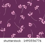 floral seamless pattern for... | Shutterstock .eps vector #1493556776