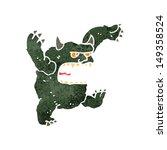 retro cartoon roaring monster | Shutterstock . vector #149358524