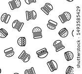 delicious burger seamless... | Shutterstock .eps vector #1493585429