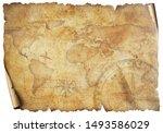 Vintage Old Travel World Map...