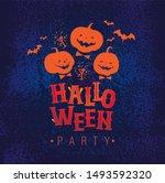 halloween  hand drawn sign ... | Shutterstock .eps vector #1493592320
