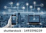 internet network  cloud... | Shutterstock . vector #1493598239